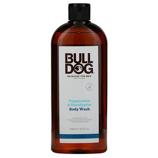 Bulldog Skincare For Men, Body Wash, Peppermint & Eucalyptus, 16.9 fl oz (500 ml)