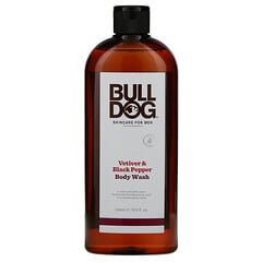 Bulldog Skincare For Men, 沐浴露,香根草和黑胡椒,16.9 盎司(500 毫升)