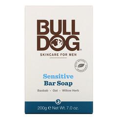 Bulldog Skincare For Men, 敏感肌膚肥皂,7.0 盎司(200 克)