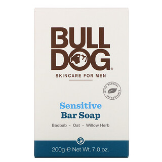 Bulldog Skincare For Men, Bar Soap, Sensitive, 7.0 oz (200 g)
