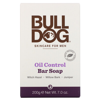 Купить Bulldog Skincare For Men Bar Soap, Oil Control, 7.0 oz (200 g)