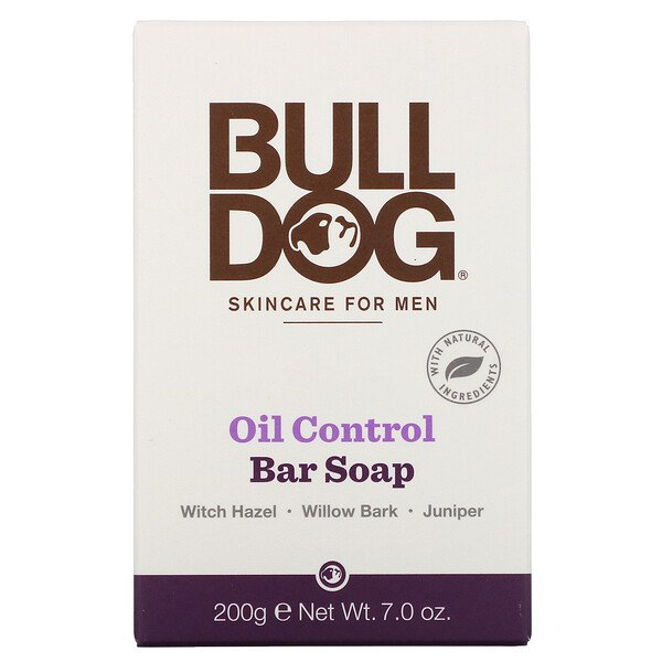 Bulldog Skincare For Men, Bar Soap, Oil Control, 7.0 oz (200 g)