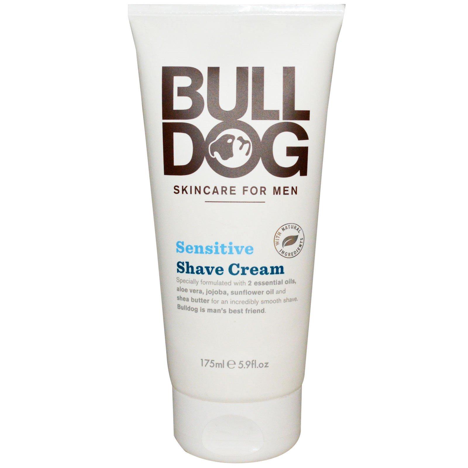 Bulldog Skincare For Men, Крем для бритья, для чувствительной кожи, 175 мл (5,9 жидких унций)