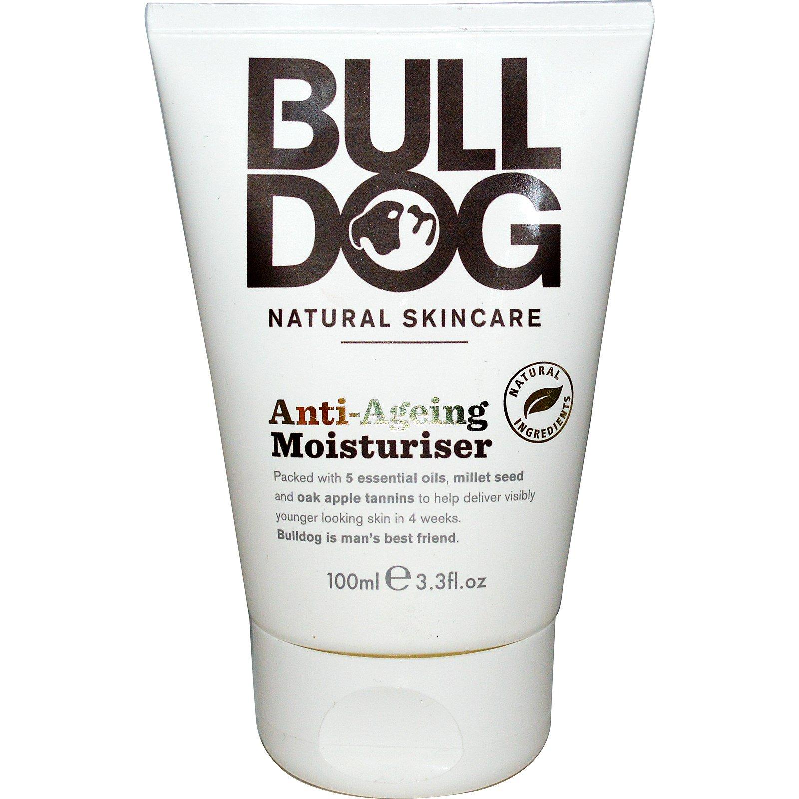 Bulldog Skincare For Men, Антивозрастной увлажняющий крем, 3,3 жидких унции (100 мл)