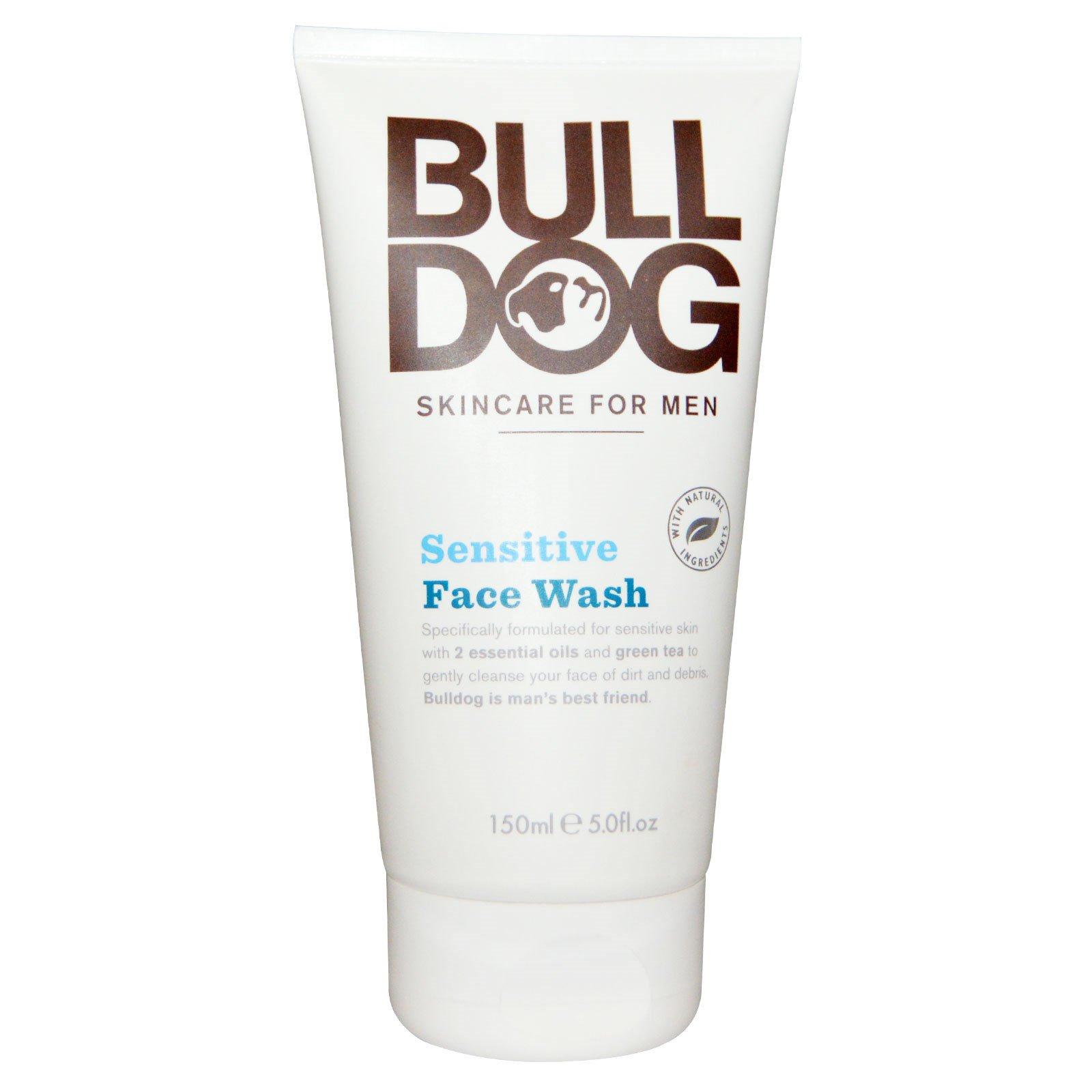 Bulldog Skincare For Men, Средство для умывания, для чувствительной кожи лица, 5. жидких унций (150 мл)
