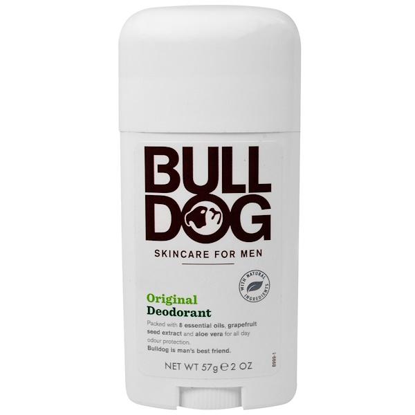 Bulldog Skincare For Men, Deodorant, Original, 2 oz (57 g) (Discontinued Item)