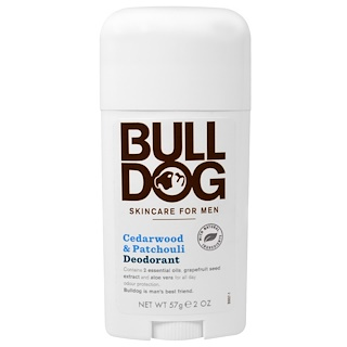 Bulldog Skincare For Men, Deodorant, Cedarwood & Patchouli, 2 oz (57 g)