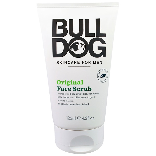 Bulldog Skincare For Men, Original Face Scrub, Skincare For Men, 4.2 fl oz (125 ml) (Discontinued Item)
