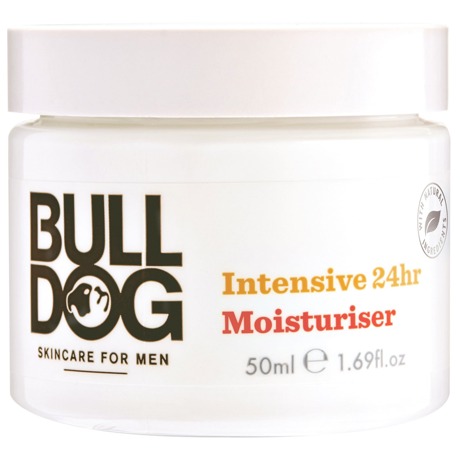 Bulldog Skincare For Men, Интенсивный Увлажнитель на 24 часа, 1,69 жидк.унций (50 мл)