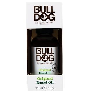 Bulldog Skincare For Men, Original Beard Oil, 1.0 fl oz (30 ml)