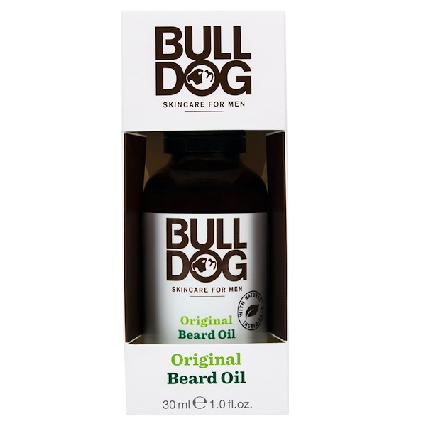 Bulldog Skincare For Men, 原裝鬍鬚油,1、0液盎司(30毫升)