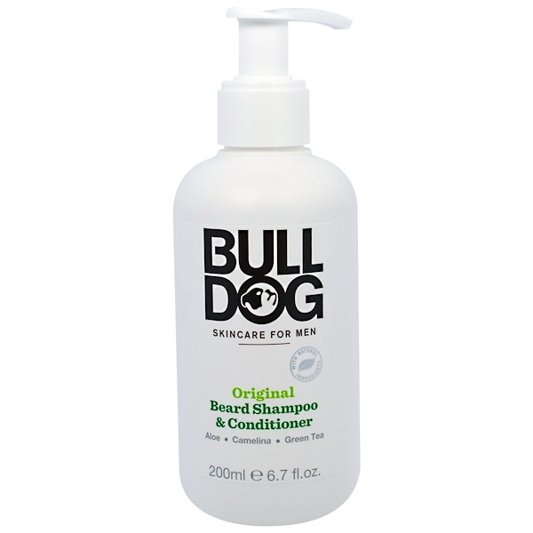 Bulldog Skincare For Men, Original Beard Shampoo & Conditioner, 6.7 fl oz (200 ml) (Discontinued Item)