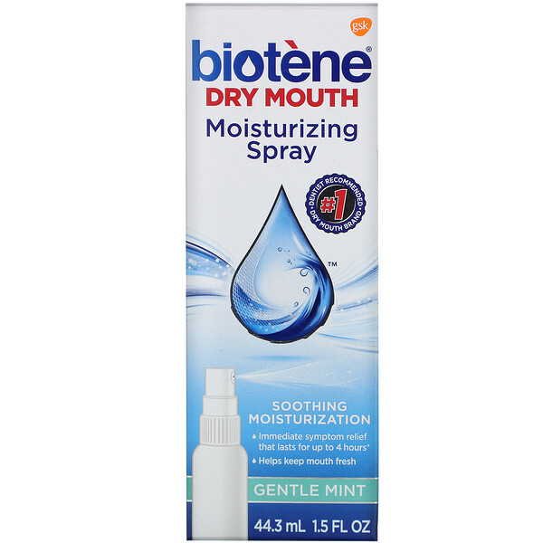 Dry Mouth Moisturizing Spray, Gentle Mint, 1.5 fl oz (44.3 ml)