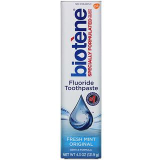 Biotene Dental Products, Creme dental com flúor, Fresh Mint Original, 121,9 g