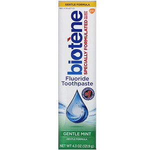 Биотин Дэндал Продактс, Gentle Formula Fluoride Toothpaste, Gentle Mint, 4.3 oz (121.9 g) отзывы