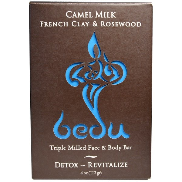One with Nature, Triple Milled Face & Body Bar, Camel Milk French Clay & Rosewood, 4 oz (113 g) (Discontinued Item)