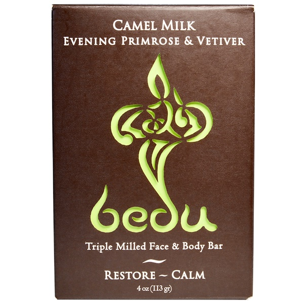 One with Nature, Triple Milled Face & Body Bar, Camel Milk Evening Primrose & Vetiver, 4 oz (113 g) (Discontinued Item)