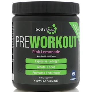 Bodylogix, طاقة ما قبل التدريب، عصير الليمون الوردي، 8.47 أوقية (240 غرام)