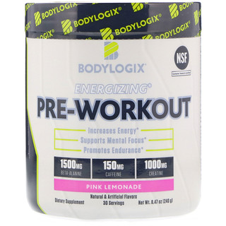 Bodylogix, Energizing Pre-Workout, Pink Lemonade, 8.47 oz (240 g)