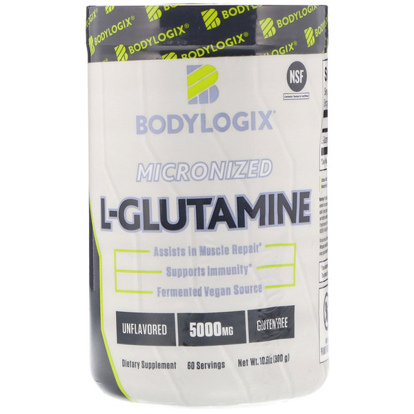 Bodylogix, Micronized L-Glutamine, Unflavored, 10.58 oz (300 g) (Discontinued Item)
