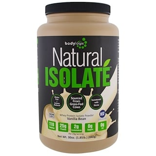 Bodylogix, Natural Whey Isolate Protein Powder, Vanilla Bean, 30 oz (840 g)