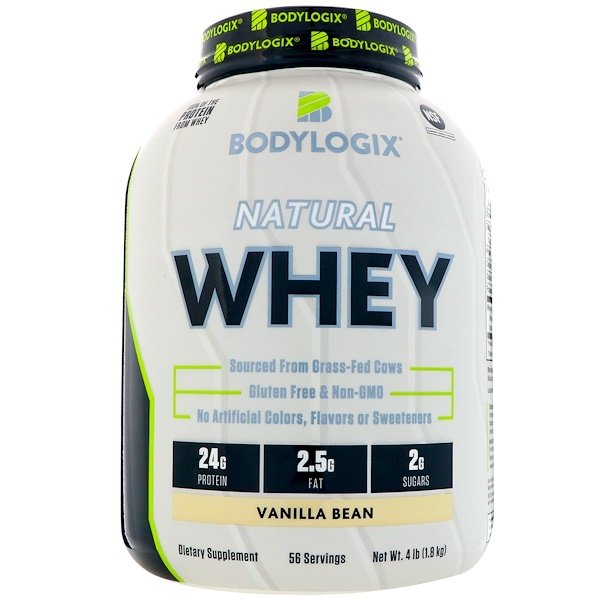 Bodylogix, 天然乳清,香草豆,4磅(1、8公斤)