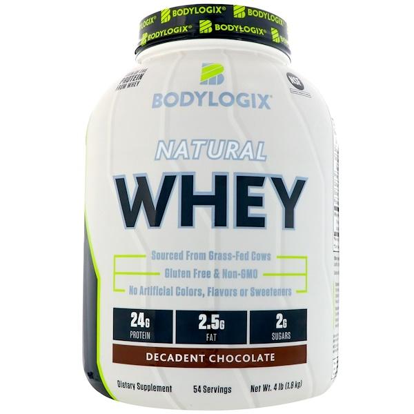Bodylogix, 天然乳清,頹廢巧克力,4磅(1、8公斤)