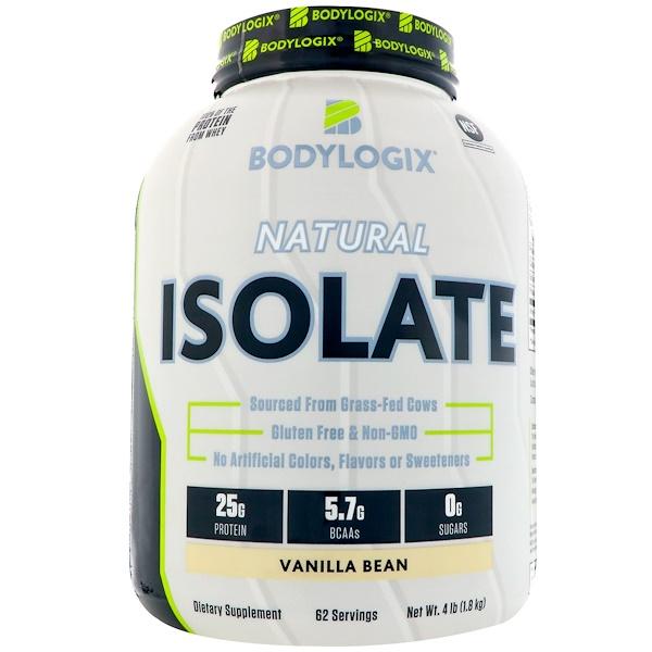 Bodylogix, 天然分離物,香草豆,4磅(1、8公斤)