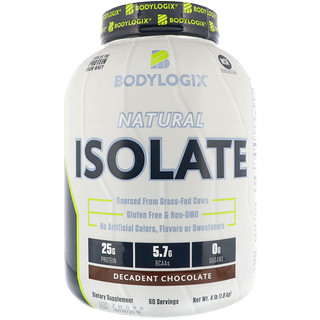 Bodylogix, Natural Isolate, Decadent Chocolate, 4 lbs (1.8 kg)