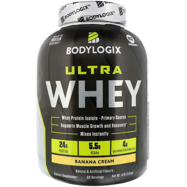 Bodylogix, Ultra Whey, Banana Cream, 4lb (1、8 kg)