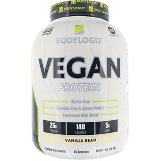 Bodylogix, Vegan Protein, Vanilla Bean, 4 lbs (1.8 kg)