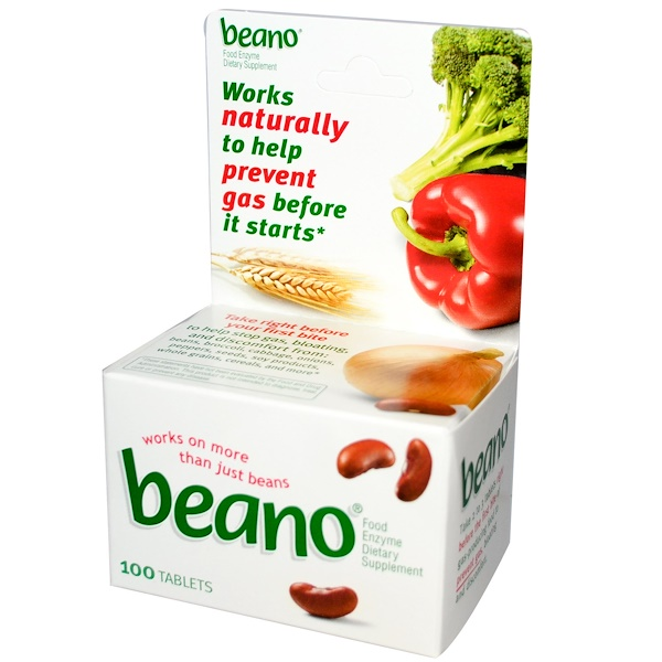 Beano, Food Enzyme, 100 Tablets (Discontinued Item)