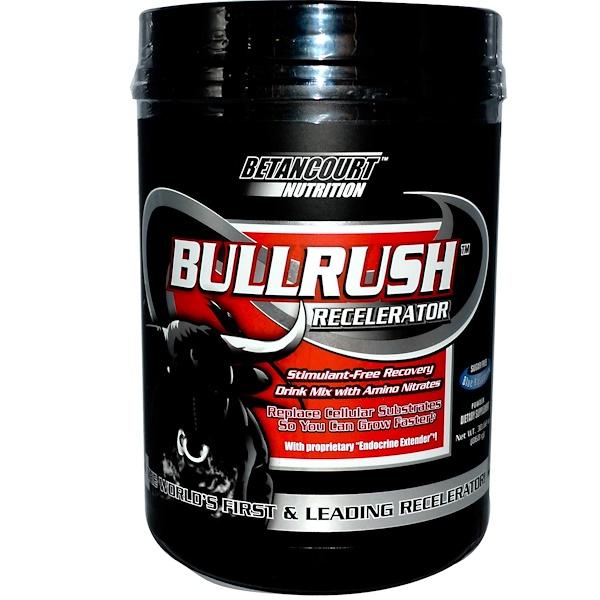 Betancourt, Bullrush Recelerator, Sugar Free, Blue Raspberry, 30.62 oz (868 g) Powder (Discontinued Item)