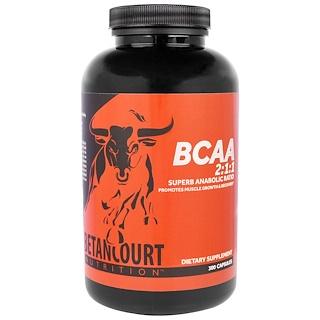 Betancourt, BCAA 2:1:1 Ratio, 300 Capsules