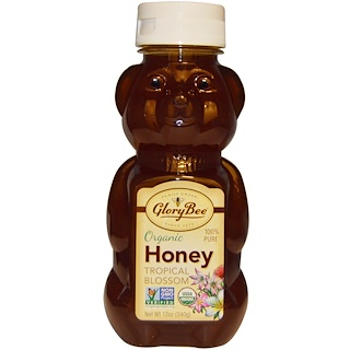 GloryBee, Organic Tropical Blossom Honey, 12 oz (340 g)