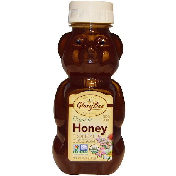 GloryBee, Organic Tropical Blossom Honey, 12 oz (340 g) (Discontinued Item)