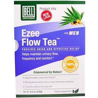 Bell Lifestyle, Ezee Flow Tea #4A, For Men, 4.2 oz (120 g)
