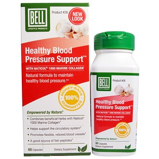 Bell Lifestyle, Healthy Blood Pressure Support, 60 Capsules