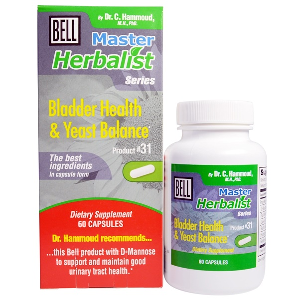 Bell Lifestyle, Master Herbalist Series, Bladder Health & Yeast Balance, 60 Capsules (Discontinued Item)