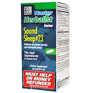Bell Lifestyle, Master Herbalist Series, Sound Sleep #23, 60 Capsules