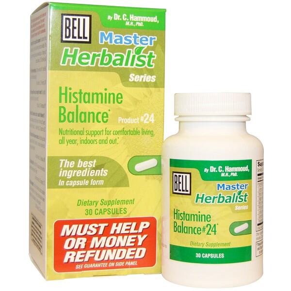 Bell Lifestyle, Серия Master Herbalist, гистаминный баланс, 30 капсул (Discontinued Item)