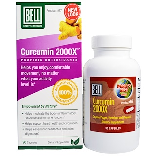 Bell Lifestyle, Curcumin 2000X, 90 Capsules