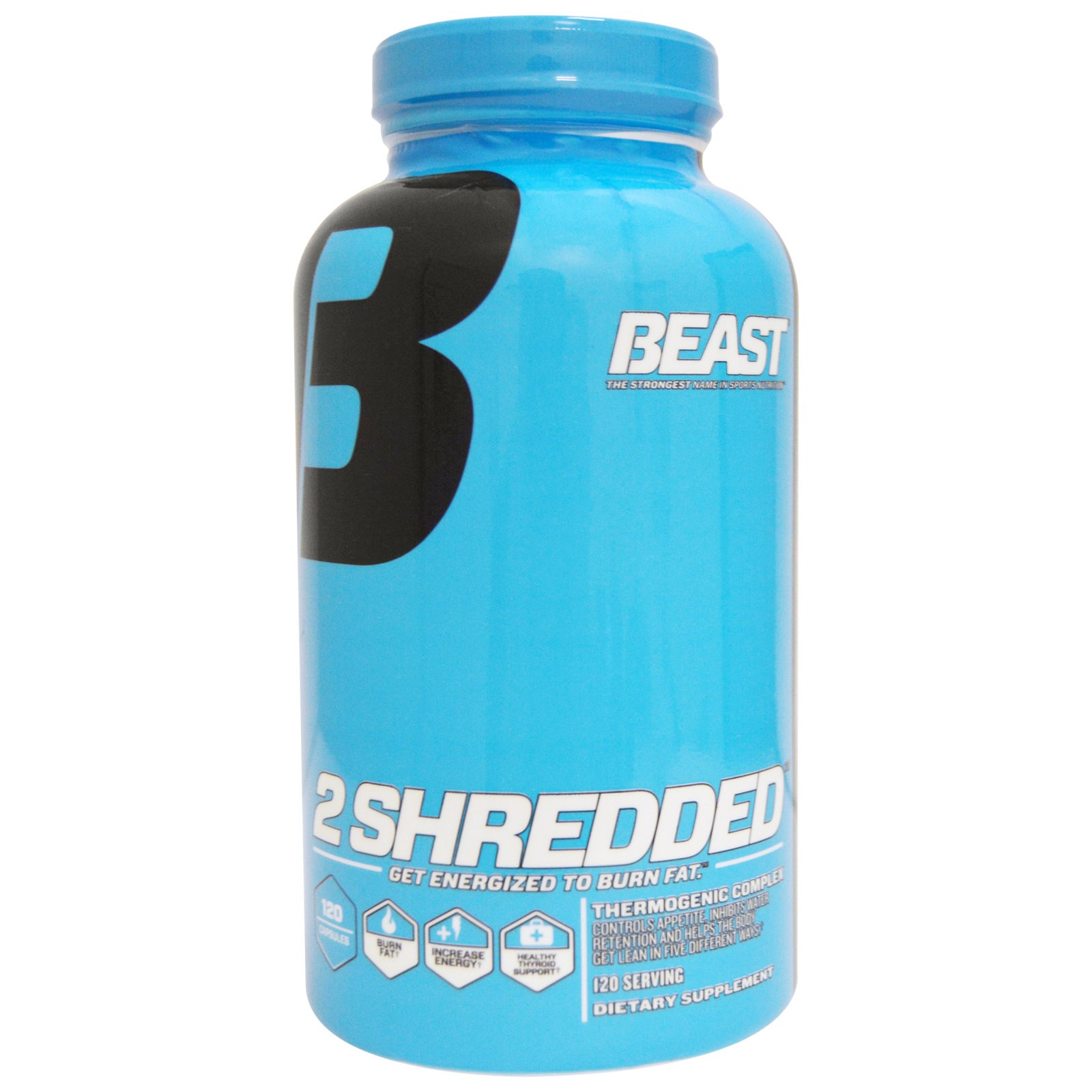 Beast Sports Nutrition, 2 Shredded, 120 капсул