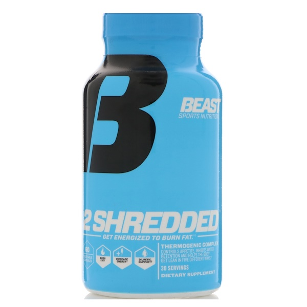Beast Sports Nutrition, 燃脂能量補劑,60 粒素食膠囊
