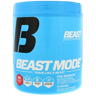 Beast Sports Nutrition, Nutrition, Beast Mode Pre-Workout, Beast Punch, 8.47 oz (240 g)