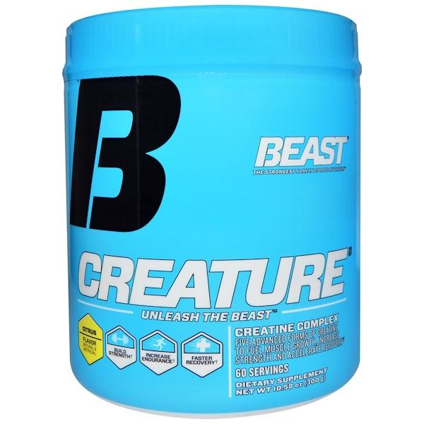 Beast Sports Nutrition, 運動營養健身增肌粉,柑橘,10、58盎司(300克)