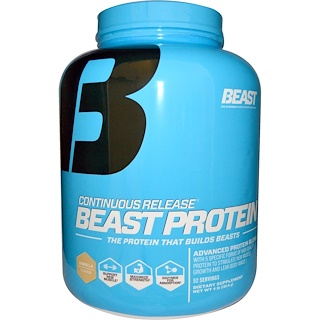 Beast Sports Nutrition, Beast Protein, Continuous Release, Vanilla, 4 lbs (1814 g)