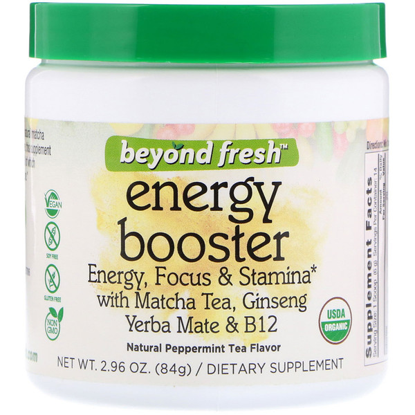 Beyond Fresh, Energy Booster, Energy, Focus & Stamina, Natural Peppermint Tea Flavor, 2.96 oz (84 g) (Discontinued Item)