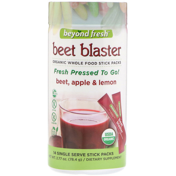 Beyond Fresh, Свекольный взрыв, свекла, яблоко и лимон, 14 порционных пакетиков-стиков (Discontinued Item)