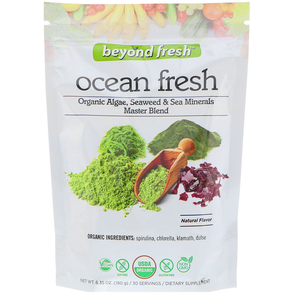Ocean Fresh, Organic Algae, Seaweed & Sea Minerals Master Blend, Natural Flavor, 6.35 oz (180 g)
